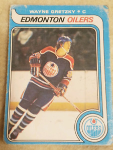 Official OPC 1979 Wayne Gretzky Rookie Card Fair Condition.