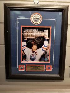 Photo encadrée et signée de Wayne Gretzky authentifier!