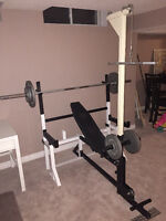 Free Weight Set - Bench - Squat Rack - Olympic - Incline - Rowin