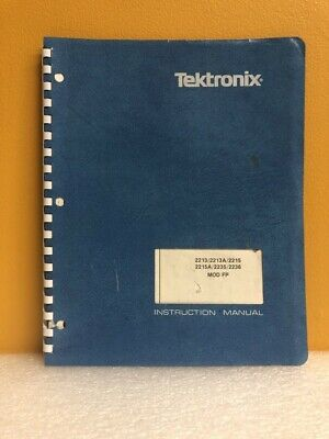 Tektronix 061-2782-00 22132213a22152215a22352236 Mod Fp Instruction Manual