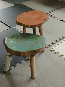 shabby chic eco friendly side tables or plant stands