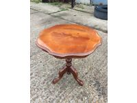 Solid walnut lamp table - for dining room