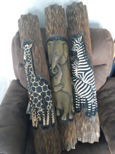 Real wooden animal wall decor