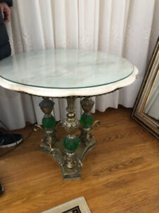 Marble Coffee Table and Two End Tables For Sale