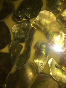 "Rare Vintage 60's Wondermold Table Abalone Mother of Pearl 36"" Kitchener / Waterloo Kitchener Area image 2"