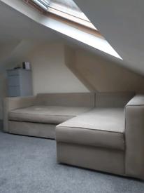 Convertable Grey L Sofa bed