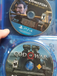 Ps4 God of War 4/Overwatch (0 scratches)