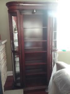 Curio cabinet/bookcase