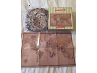 Laura Ashley world map jigsaw/ 1000 piece. Sealed in pack!