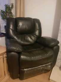 Single Leather Recliner
