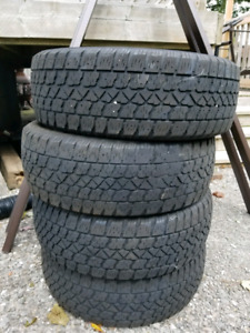 Seat of winter tire size 195/60/15