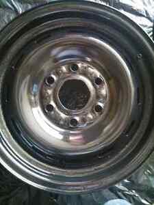 16 inch by 6.5 inch steel rims, 6 bolt GM