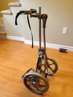 Vintage cast aluminum Bag Boy push cart