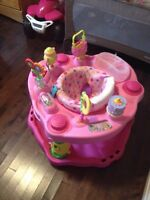 Pink Foldable Exersaucer