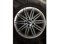 "BMW 1 series e87 spyder alloys 17"" fits all BMW m sport 5120 genuine staggered alloys"