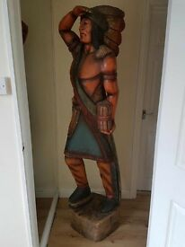 Cigar store Indian solid carved 6ft tall