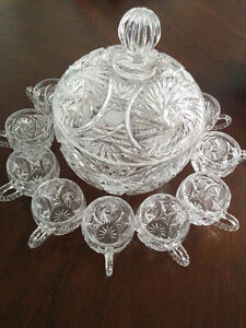 Crystal Party Punch Bowl.