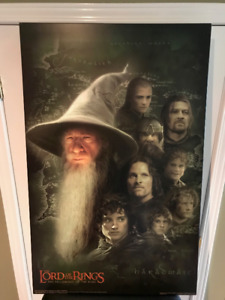 22 x 34 Lord of the Rings (Fellowship) Movie Poster on Plaque