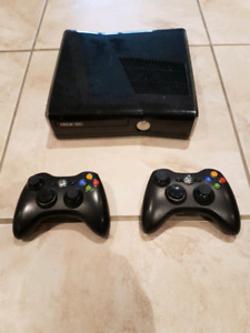 Xbox 360 with various games