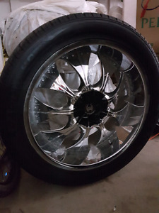 22inch 2crave rims and tires