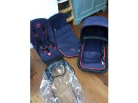 Bugaboo Chameleon 3 Limited Edition Neon Seat Frame and Fabric and Footmuff