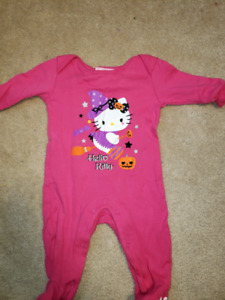 0-3 month halloween sleeper hello kitty