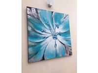 Teal extra large canvas