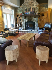 Rustic coffee table and end tables - Ottawa - FREE DELIVERY