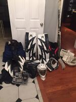Lots of goalie equipment for sale!