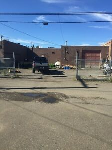Shop with gated yard for lease downtown Prince George