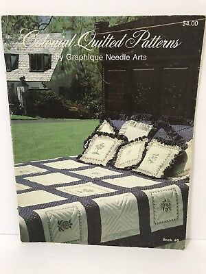 Vtg 1980 Quilting - Colonial Quilted Patterns by Graphique Needle Arts Book #8
