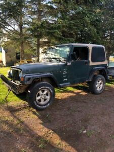 2000 jeep tj 4.0 5 speed part out