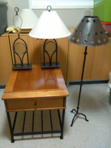End Table and Lamps