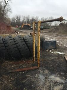 HEAVY DUTY SEWER FORKS FOR LOADER ONLY 1500$ ACT FAST