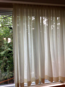 Let in the light: Ivory Semi-Sheer Curtains, excellent condition