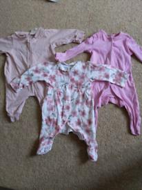 0-1months baby sleepsuits bundle