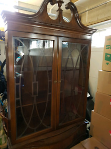 Antique Dining Room Corner Cabinet