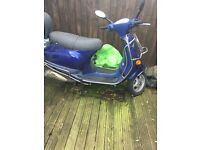 Blue Vespa 50cc ( a nice little project!)