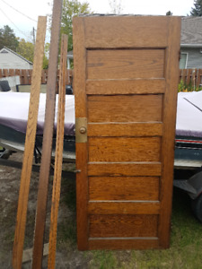 13 antique oak doors and various moldings 100 years old
