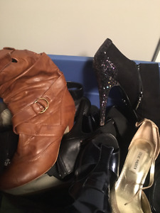 10 pairs of shoes and boots size 8!!!