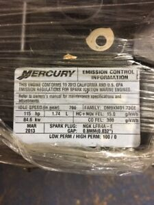 LONGBLOCK 115HP MERCURY 4 TEMPS