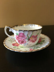 NEWLY REDUCED - Beautiful White Flower Cup and Saucer