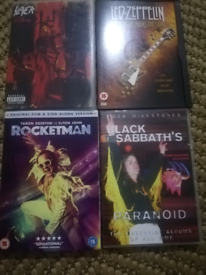 Rock music Dvds and cds