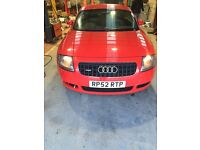 Audi TT 2003 225 bhp. Low mileage.