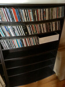 CD or DVD shelving unit