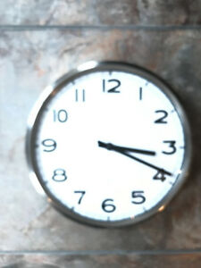 IKEA CLOCK - STAINLESS STEEL AND GLASS