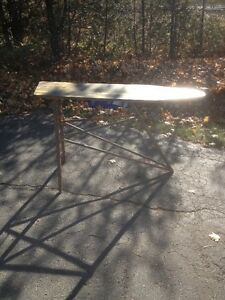 ANTIQUE WOODEN IRONING BOARD/UNIQUE ITEM/TABLE London Ontario image 2