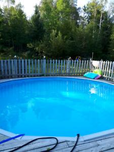 27' x 5' Above Ground Swimming Pool
