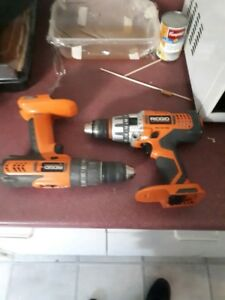 Ridgid hammer drill/ power drill with charger BARE TOOLS