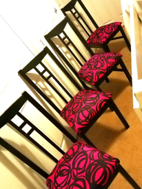 4 upcycled Dining Chairs